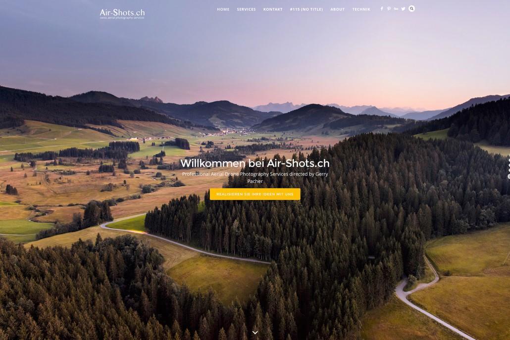 Air-Shots Luftaufnahmen mit Drohnen und Landschaftsaufnahmen