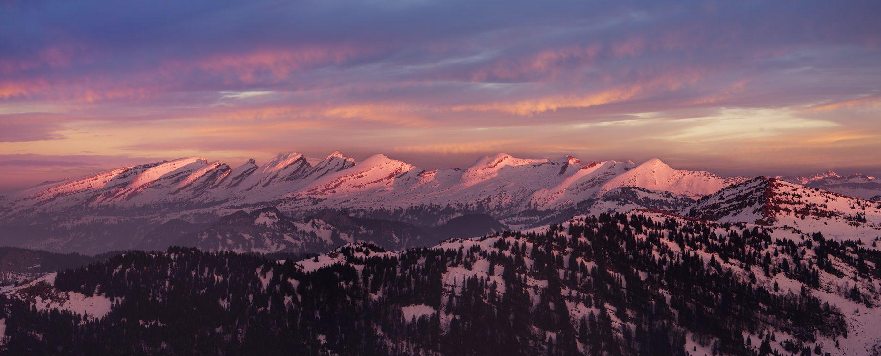 Luftaufnahme - Churfirsten - letztes Abendlich © by Gerry Pacher Photography