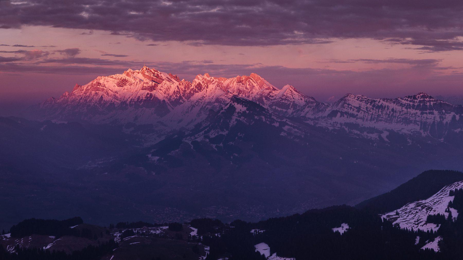 Säntis - Sonnenuntergang - Luftaufnahme © by Gerry Pacher Photography