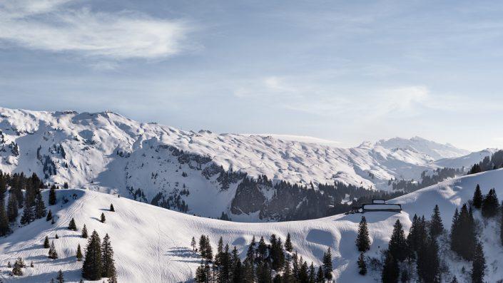 winterliche Luftaufnahmen Richtung Hoch-Ybrig © by Gerry Pacher Photography