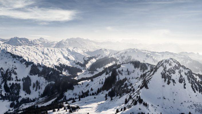 Luftaufnahme Hoch-Ybrig, Roggenstock © by Gerry Pacher Photography