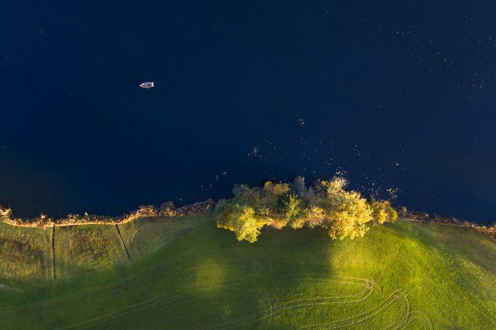 Fischen im Hüttensee - Luftaufnahme @ by Gerry Pacher