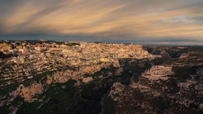 Aerial Photography Italy, Sassi di Matera, © by Gerry Pacher
