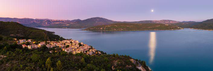 France - Provence - full moon, Lac de Sainte-Croix, Saint Croix Du Verdon