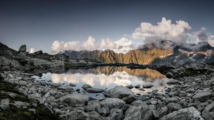 Schweiz, Berge, See, Wolken, Gauli Region