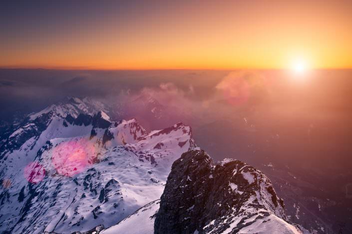 Säntis Sunset / Aerial / Luftaufnahme / Ostschweiz