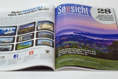 Luftaufnahme & Landschaftsaufnahmen für Zürichsee-Magazin Seesicht Immobilien-Spezial