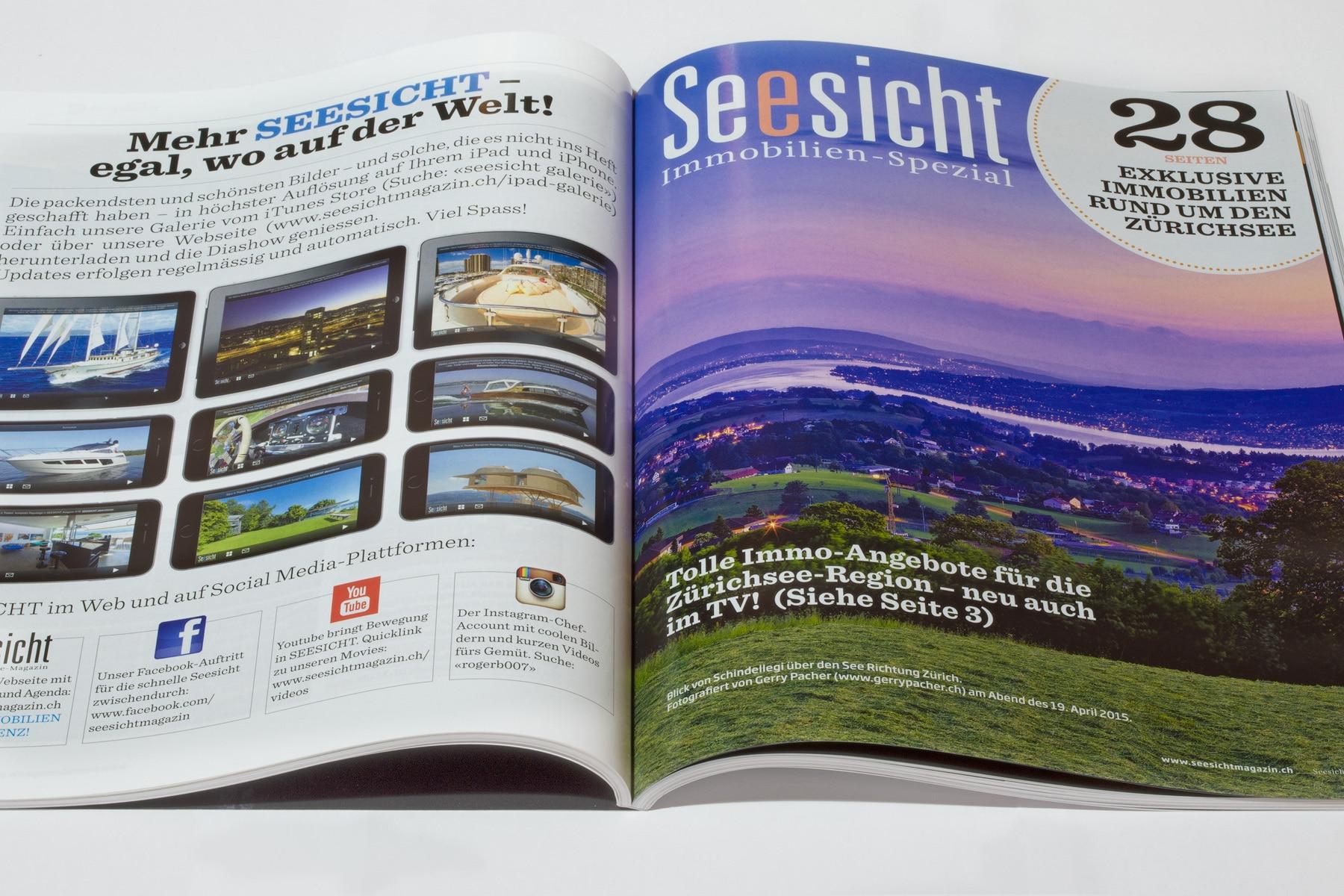 Air-Shots / Gerry Pacher Bilder im Zürichsee-Magazin Seesicht