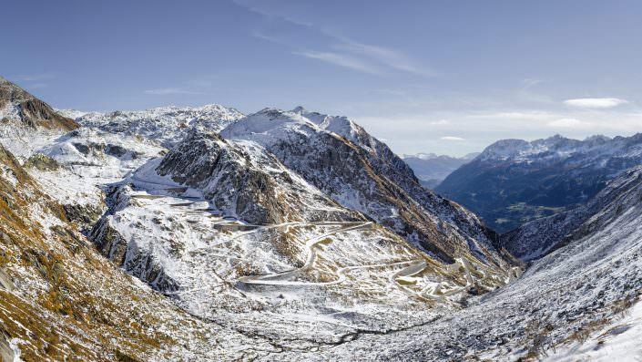 Gotthardpass / Tremola / Erster Schnee