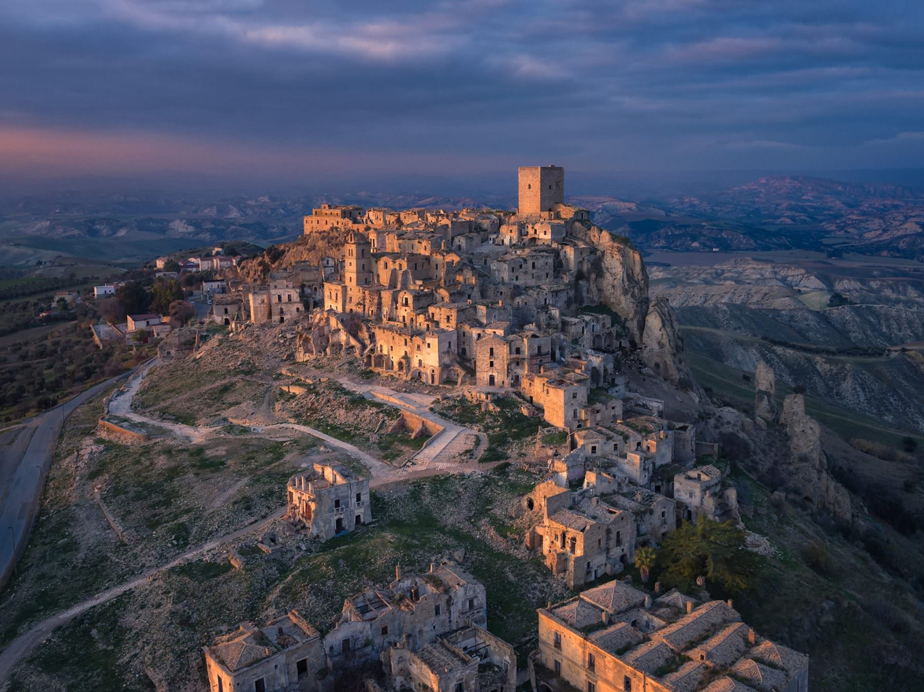 Italy, Basilicata, Ghost City, Craco, Aerial Photography by Gerry Pacher, Air-Shots.ch, Inspire Pro X5 Copyright © by Gerry Pacher