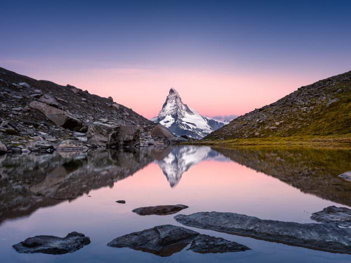 Air-Shots.ch, Switzerland, Zermatt, Matterhorn, Sunrise, Pink