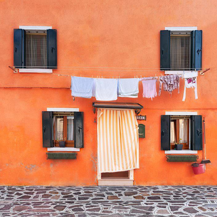 orange house no 501, Fine Art, Color, Farbe, Italy, Venedig, Burano, Gerry Pacher