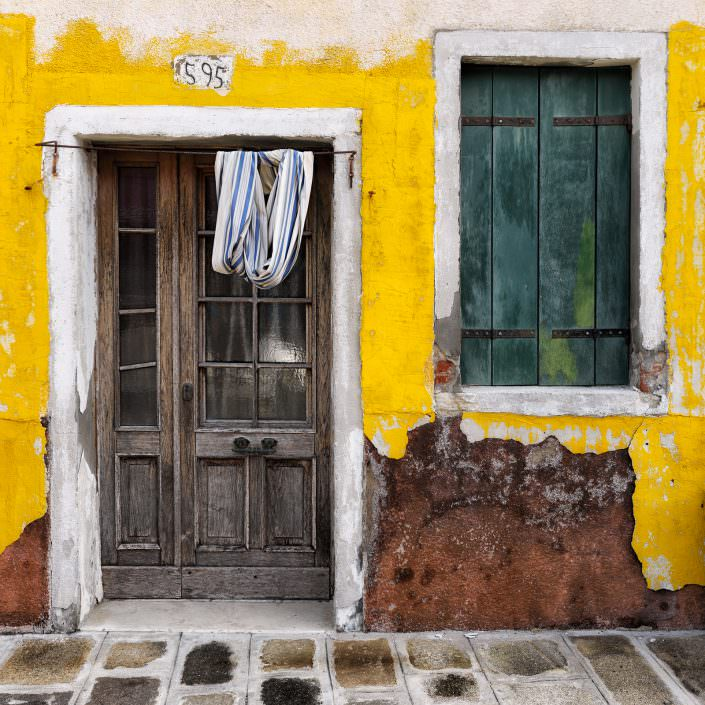 Yellow house no 595, Fine Art, Color, Farbe, Italy, Venedig, Burano, Gerry Pacher