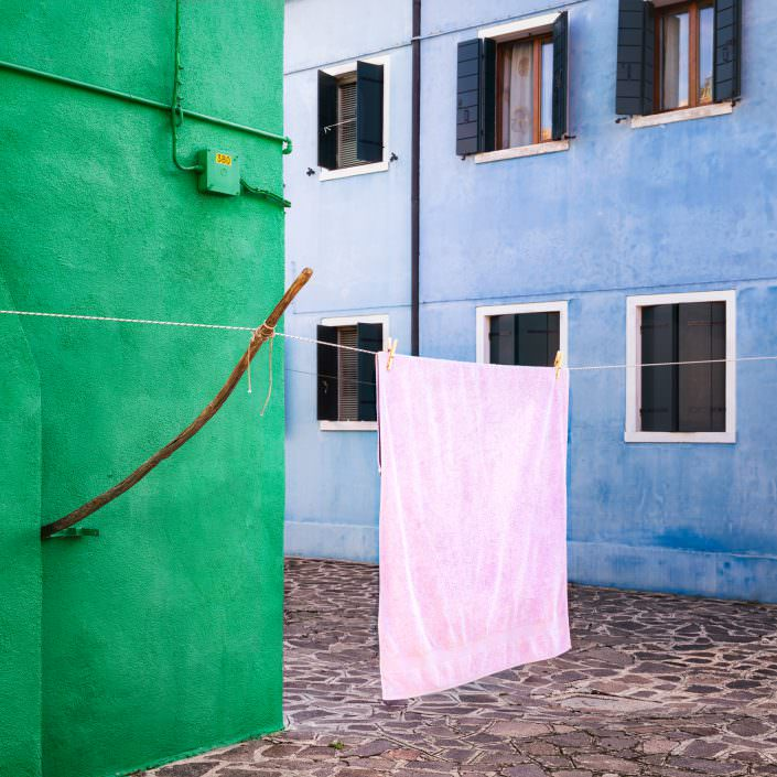 Green, Pink, Blue, Fine Art, Color, Farbe, Italy, Venedig, Burano, Gerry Pacher