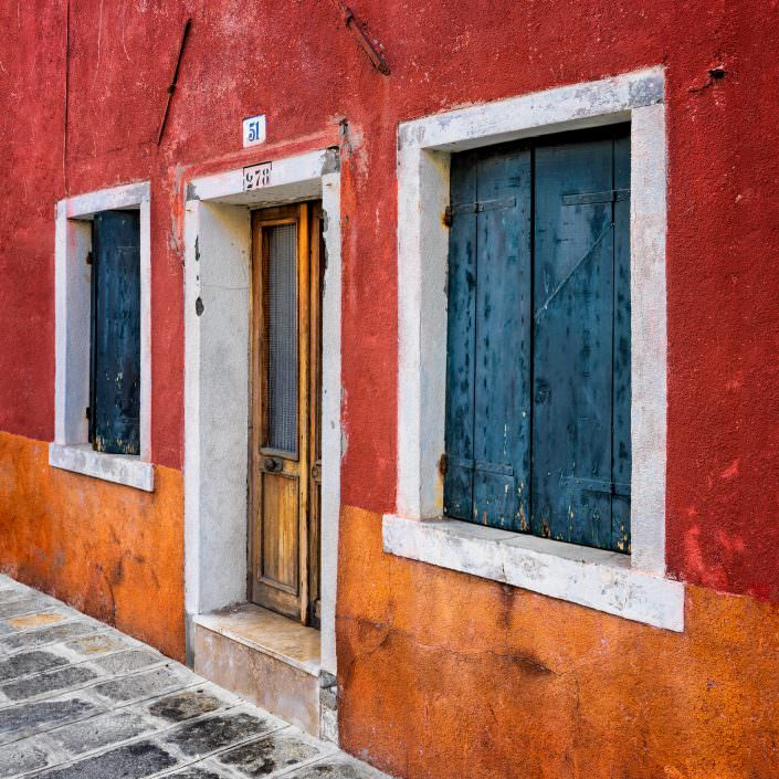 Orange, brown house, Fine Art, Color, Farbe, Italy, Venedig, Burano, Gerry Pacher