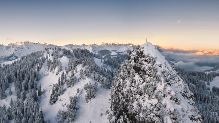 Luftaufnahme, Drohne, Schwyz, Ibergeregg, Gross, Chijen, Winter, Schnee Copyright © by Gerry Pacher