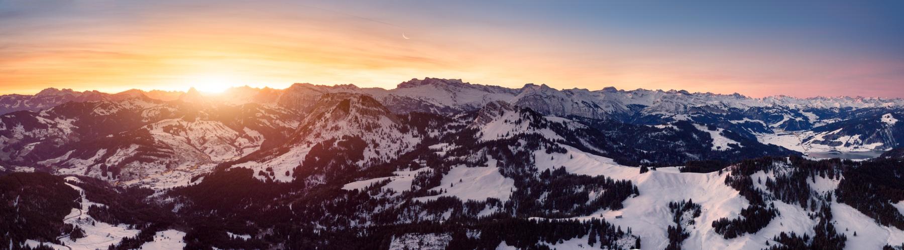 Switzerland, Schwyz, Sunrise at Staffellegg