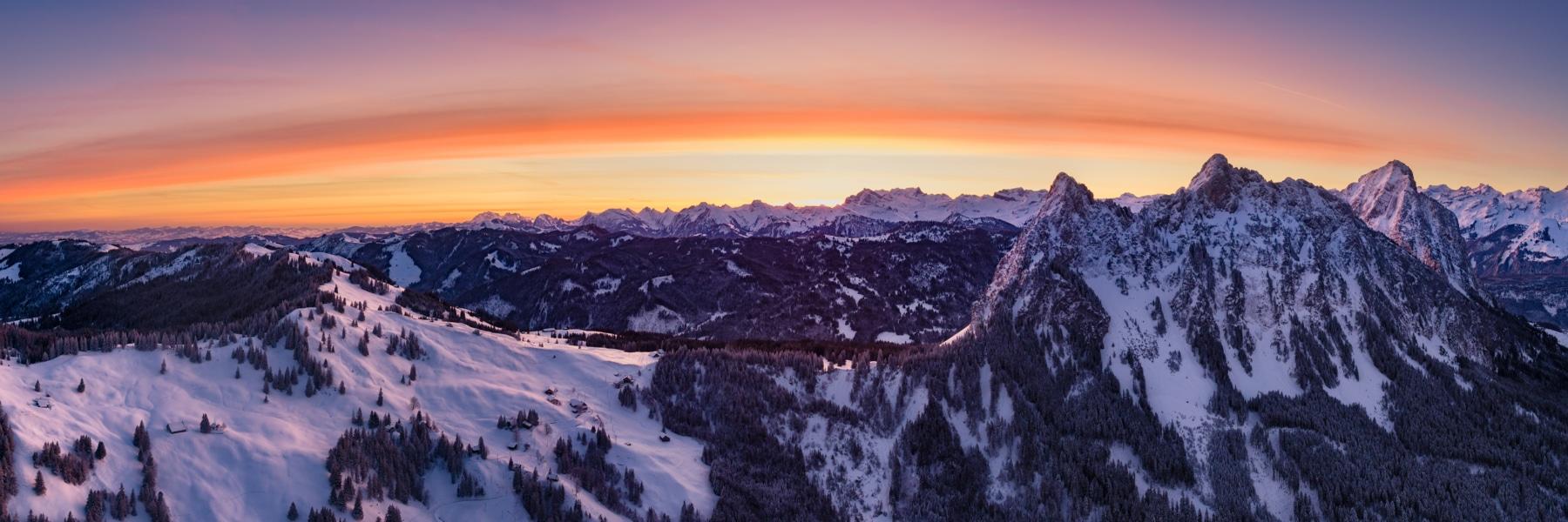 Drohnen Luftaufnahme Schwyz Mythen Haggenegg Aerial Panorama
