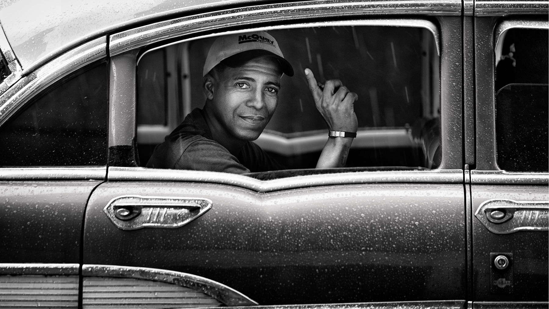 Cuba Havana - Street Photography - just spotted Obama in a cuban taxi - isn't he? Copyright © by Gerry Pacher