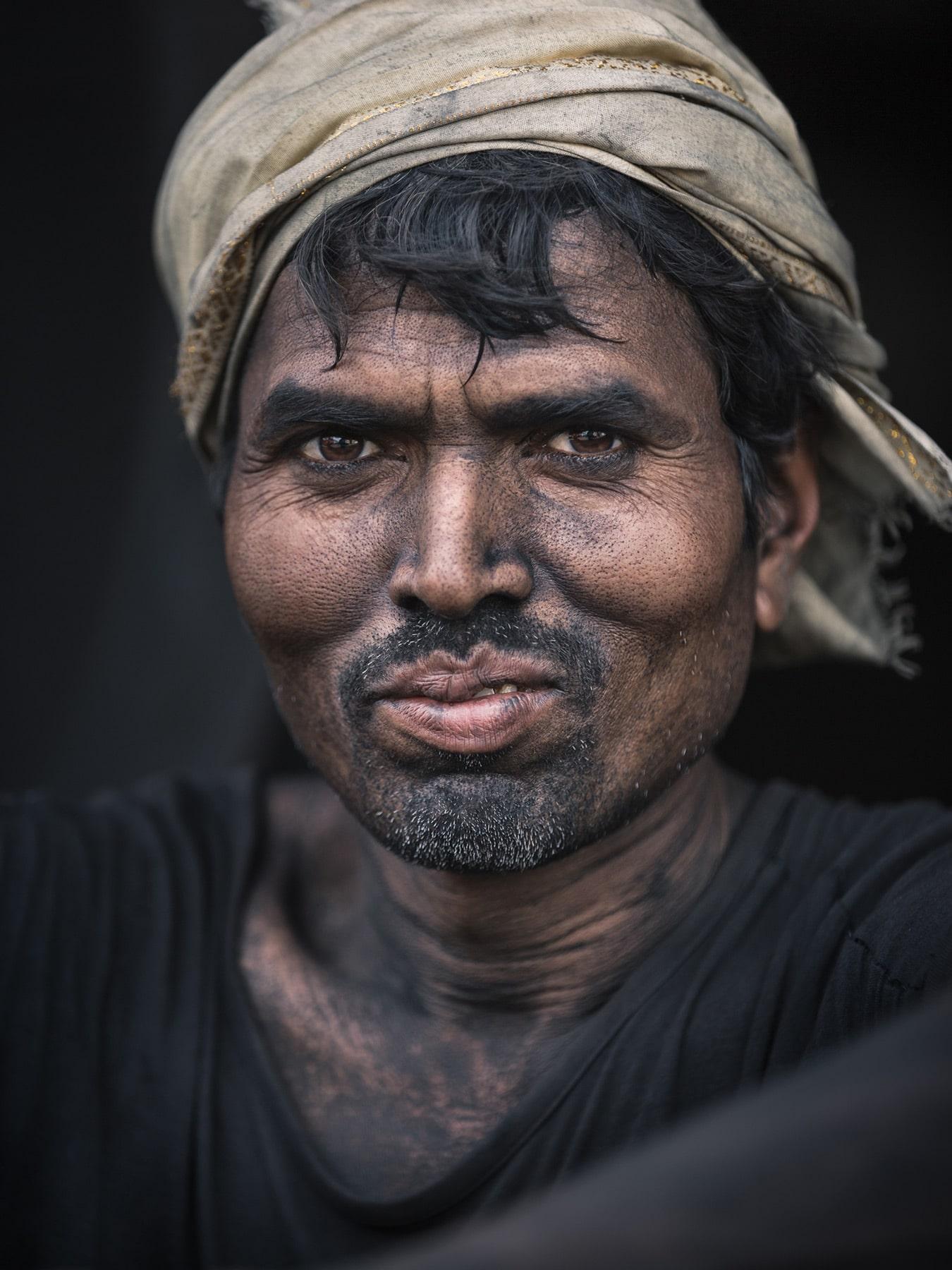 Portrait von indischen Kohlearbeitern Copyright © by Gerry Pacher