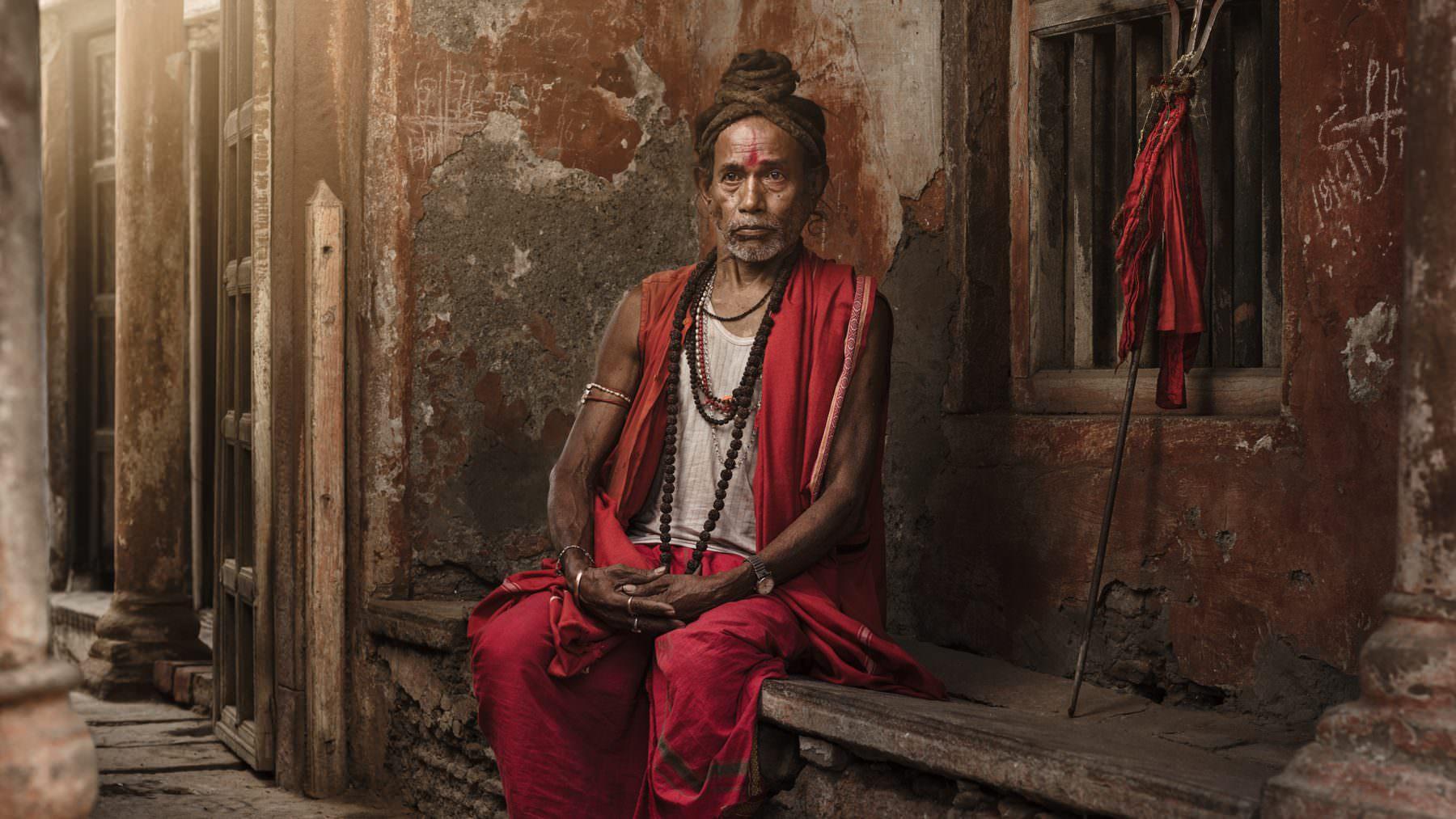 India, Varanasi, powerful Tantra Sadhu