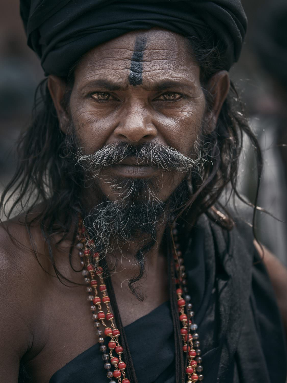 """return a look - from the portrait series """"The holy men of Varanasi""""© by Gerry Pacher"""