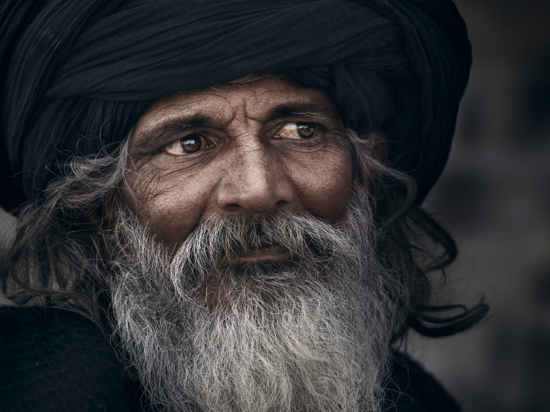 """Patient - from the portrait series """"The holy men of Varanasi"""" © by Gerry Pacher"""