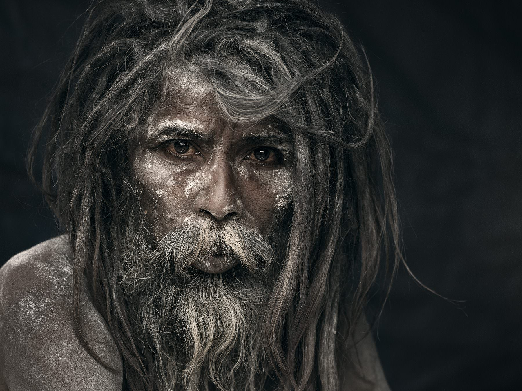 """He is gone - from the portrait series """"The holy men of Varanasi"""" © by Gerry Pacher"""
