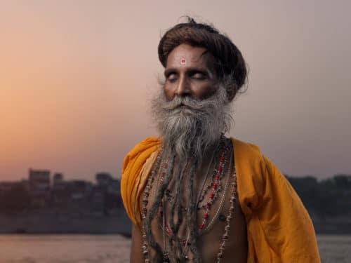 Portraits of holy men, Sadhu, Aghori India / Varanasi / Benares / Kashi Copyright © by Gerry Pacher