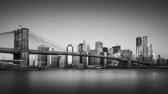 USA, NYC, Downtown, Skyline, Brooklyn Bridge