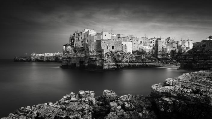 Italien, Polignano a Mare, wenn die Stadt schläft