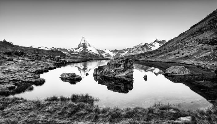 Schweiz, Zermatt, Matterhorn, Stellisee, Herbst, Berge