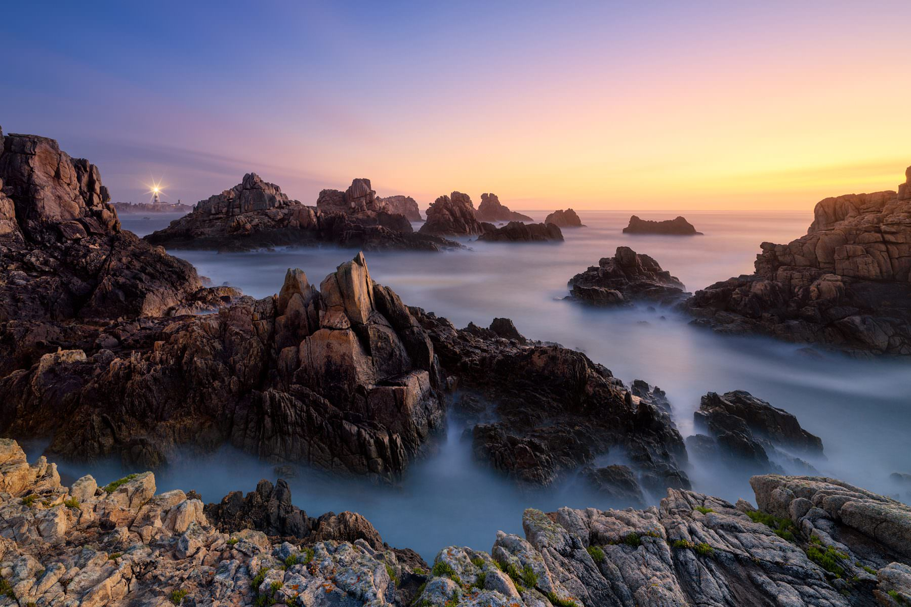 France - Bretagne - Ile d'Ouessant - Sunset mood at Phare du Creac'h © by Gerry Pacher