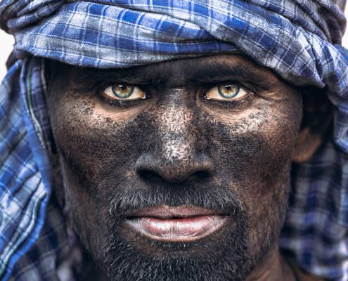 Portrait Serie: Coal Worker - India - Varanasi - Coal Mine Worker #1 © by Gerry Pacher