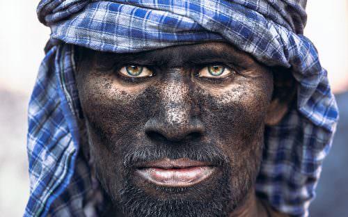 Portrait Serie: Coal Worker - India - Varanasi - Coal Mine Worker #1 © by Gerry Pacher