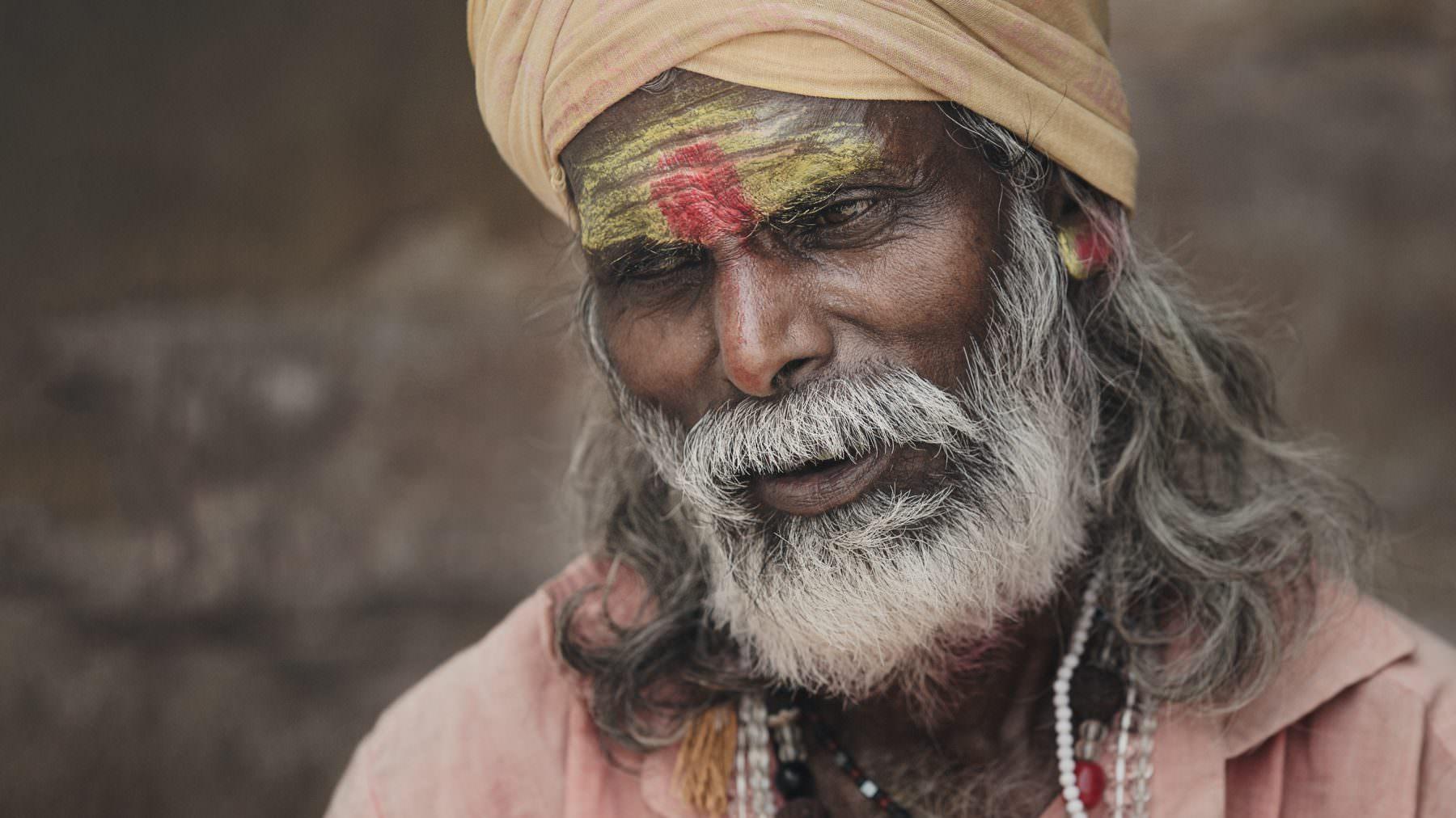 India, Varanasi, holy men, Sadhu