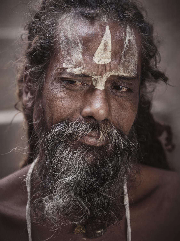 Faces of Varanasi - wandering Sadhu, holy men