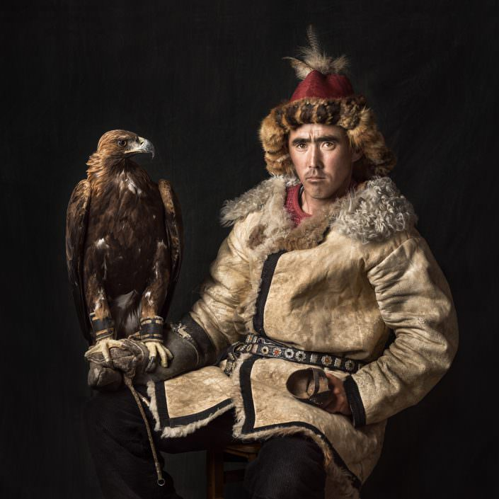 Arman a Kazakh Eagle Hunter / Mongolia / Altai © by Gerry Pacher