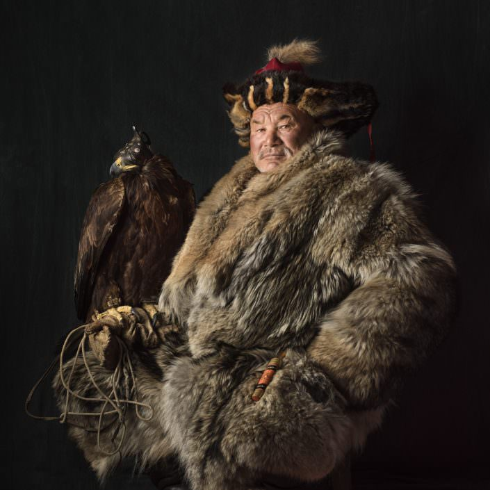 Shohan's father a legendary Kazakh Eagle Hunter / Mongolia / Altai
