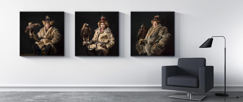 Trilogie I - Kazakh Eagle Hunter Portrait © by Gerry Pacher