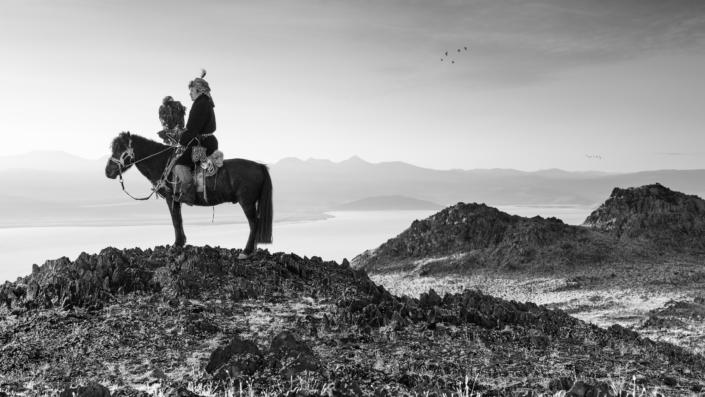 Bekish a Kazakh Eagle Hunter / Mongolia / Altai