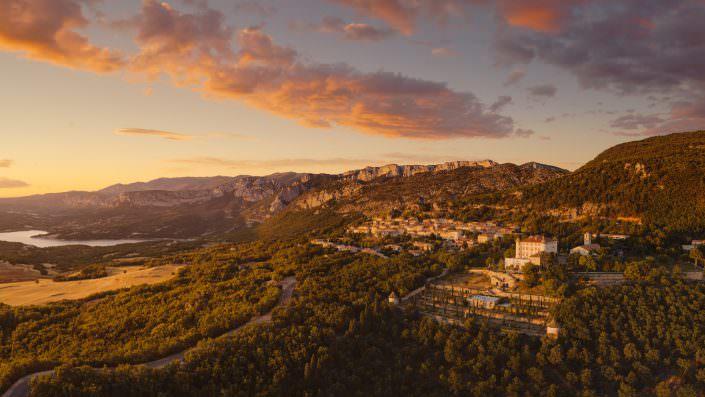 France - Provence - little cute village Aiguines with its Château d'Aiguines © by Gerry Pacher