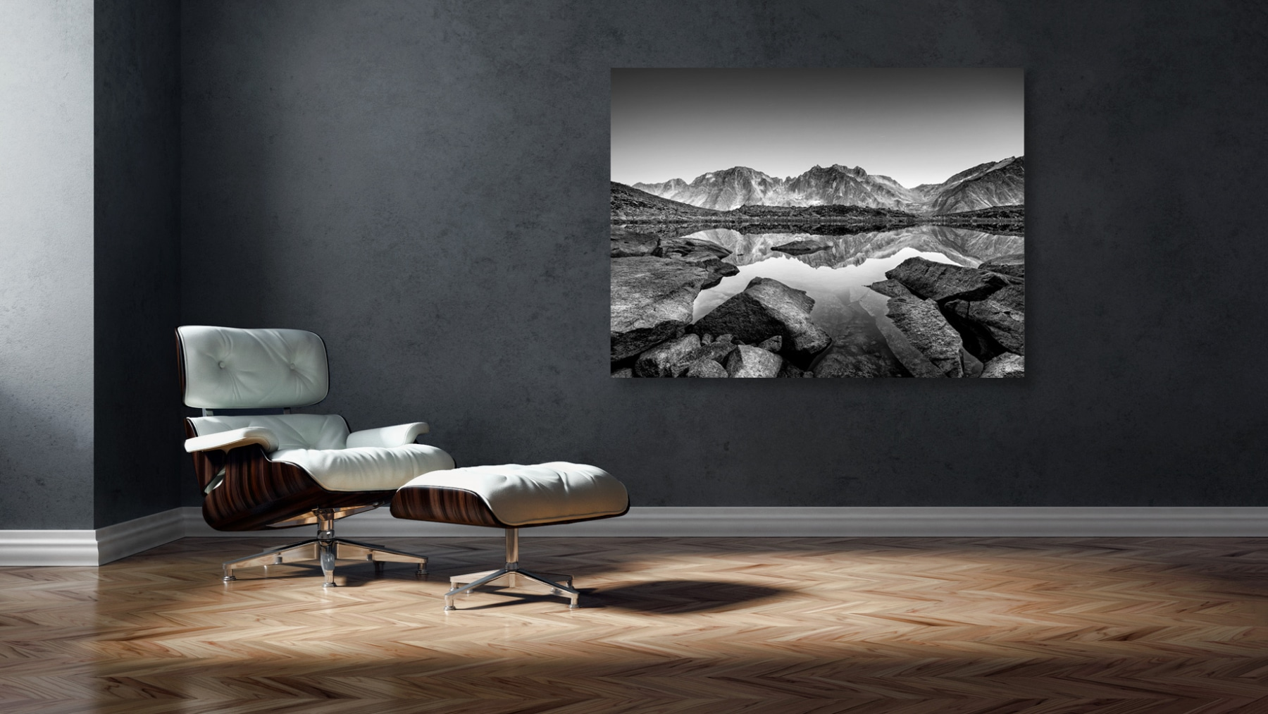 Switzerland, Mountain, Göeschenenalp, Lake, Bergsee, black and white study © by Gerry Pacher
