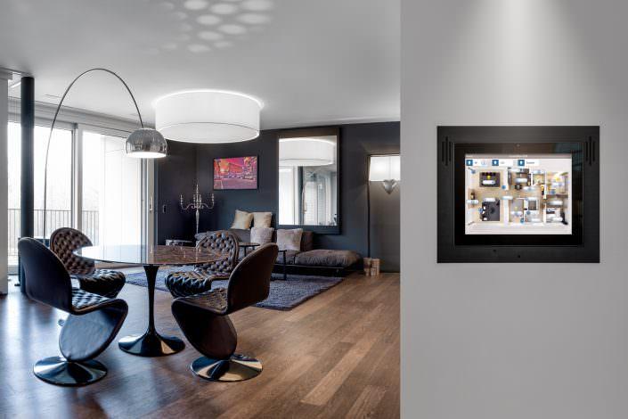 Immobilien, Innenarchitektur, Smart Place, Haussteuerung, Mobimo Tower Zürich
