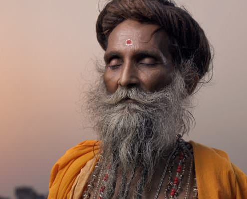 Portrait of a holy men / Varanasi, India