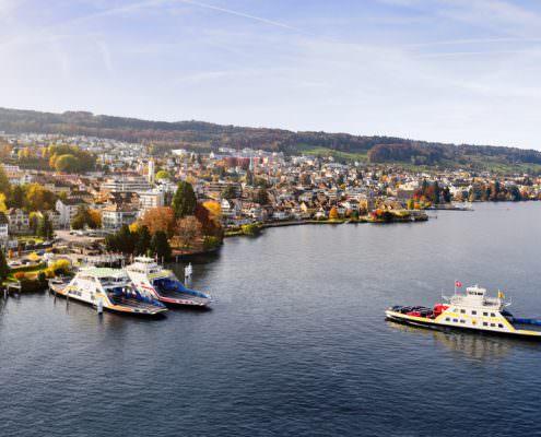Zürichsee, Arn Horgen, Lufaufnahmen, Horgen, Fähre, Meilen © by Gerry Pacher