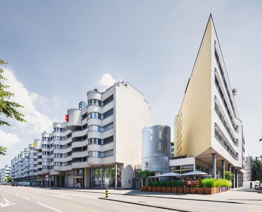 Architekturaufnahme, BVK Binzmühlepark West Sicht, Zürich