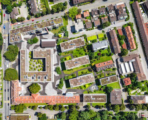 Luftaufnahmen für Immobilien Dokumentation BVK, Winterthur, Sidiareal © by Gerry Pacher