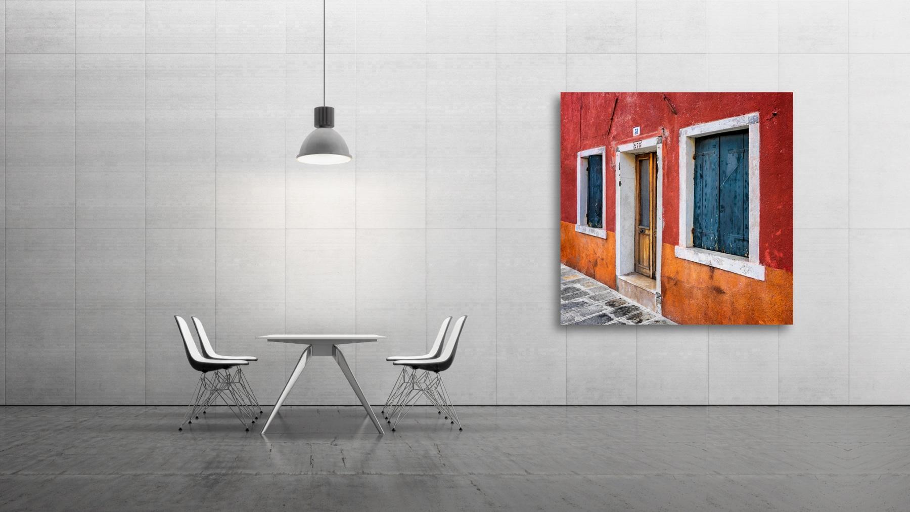 Orange, brown house, Fine Art, Color, Farbe, Italy, Venedig, Burano, Gerry Pacher