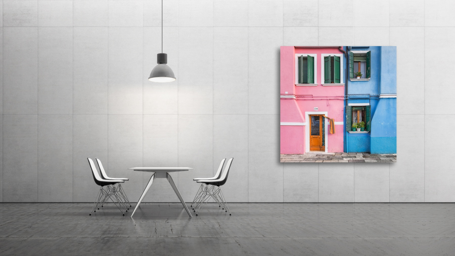 pale pink and pale blue, Fine Art, Color, Farbe, Italy, Venedig, Burano, Gerry Pacher